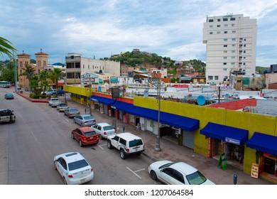 Nogales in Sonora, border town, Mexico, 08-24-2018