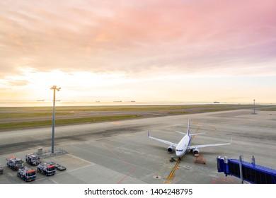 Nogoya, Japan ; MAY 5-2019 ; Landscapes of Chubu Centrair International Airport, Nagoya.