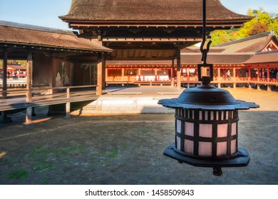 Noh Drama Stage at Miyajima Island in  Japan. Shin noh (sacred Noh) is performed on this stage during Tokasai (Peach Blossom Festival). In autumn, Kenchasai (Tea Offering Ceremony) is held here.