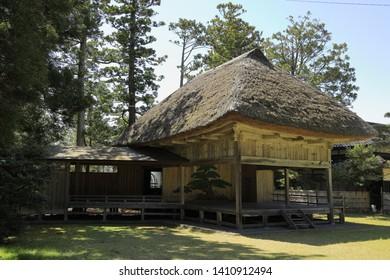 Noh stage of Daizen shrine in Sado, Niigata, Japan - Shutterstock ID 1410912494