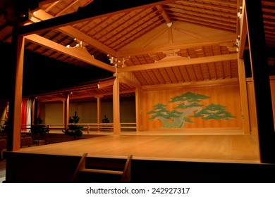 Noh stage of Nagoya noh theater - Shutterstock ID 242927317