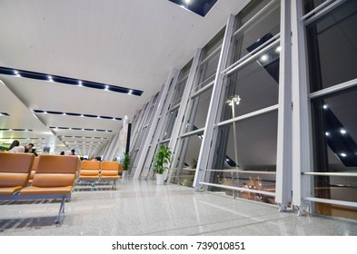 Noi Bai International Airport : August 11, 2017 : Interior view of Noi Bai International Airport in Hanoi, Vietnam. It is the largest airport in Vietnam.