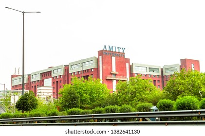 Noida, New Delhi - April 26, 2019 - A view of Amity University building at Sector 125, Noida from expressway