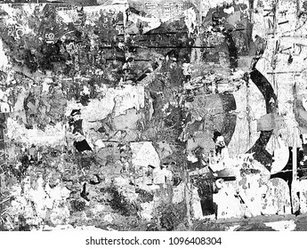 Noise abstract punk wall background in black and white grunge