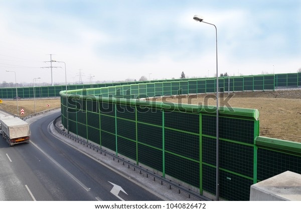 Noise Barrier Called Soundwall Noise Wall Stock Photo (Edit