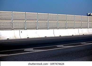 Noise barrier on the road