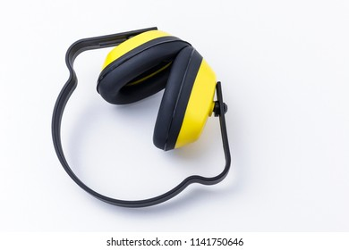 Noise reduction earmuffs isolated on a white background