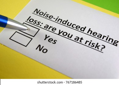 Noise-induced hearing loss: are you at risk? Yes or no