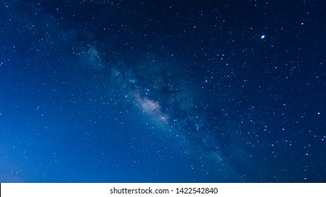 Noise,Milky way galaxy with stars and space in the universe background at thailand