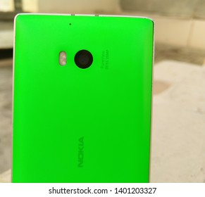 Nokia Lumia 930, old Nokia Lumia limited smartphone. Selective focus to camera. One of Nokias most popular phones. Window phone. Most powerful camera phone by Nokia. New Delhi, Delhi/India-May 30,2019