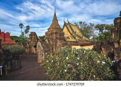 Nokor Bachay pagoda in Kampong Cham, Cambodia