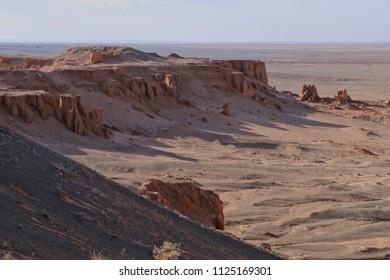 Nomad Ger camp Mongolian at gobi desert national park of Mongolia