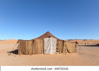 Nomad tent in the Moroccan desert