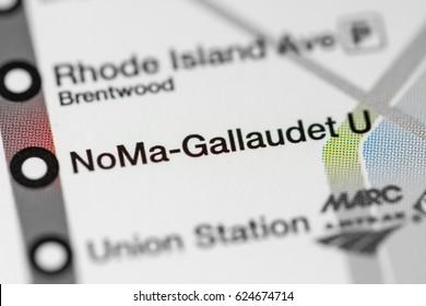 NoMa-Gallaudet U Station. Washington DC Metro map.
