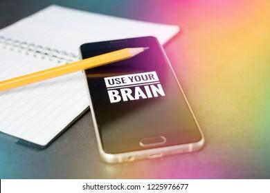 Nomophobia mental health and memory concept