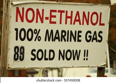 NON ETHANOL GAS SIGN