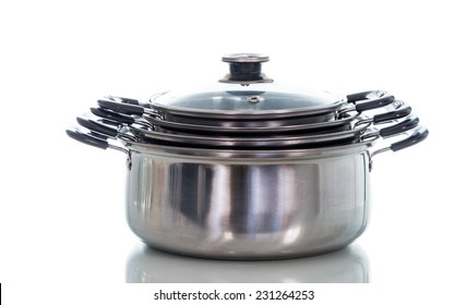 Non stick sauce pan isolate on over white background