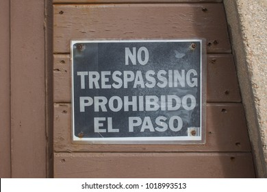 Non Trespassing Sign