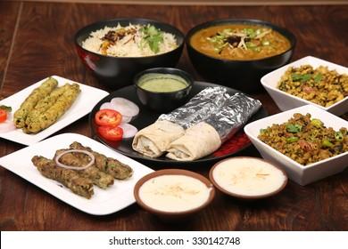 Non veg images stock photos vectors shutterstock non veg platter forumfinder Images
