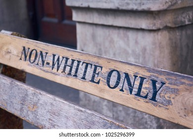Non White only bench in Cape Town