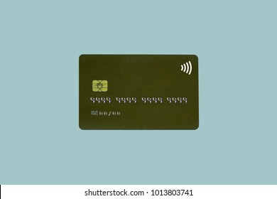 Noname credit card  or banking card with chip (no identification number and date valid thru)