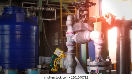 Non-destructive testing By penetrating test In petrochemical plant ,Copy space for you text.