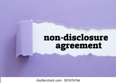 Non-Disclosure Agreement (NDA) written under torn paper.