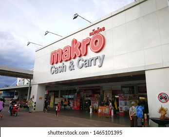 Nong Khai, Thailand 29 Jul 2019 Makro is a large wholesale store with many branches in Thailand, with Charoen Pokphand as the owner.