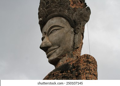 NONG KHAI, THAILAND - AUGUST 8: One of the many large concrete statues created by Luang Pu Bunleua Sulilat in the Buddha Park of Nong Khai, Thailand on the 8th August, 2014.