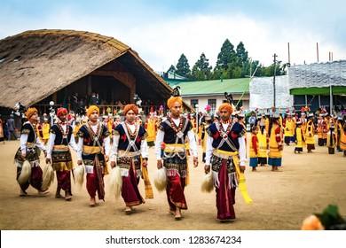 Nongkrem dance festival on 12 Dec 2018, it is the annual thanks giving festival of Hima Khyrim at Smit, Meghalaya, India