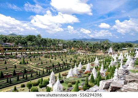 Nong-Nooch Tropical Botanical Garden at Pattaya Thailand
