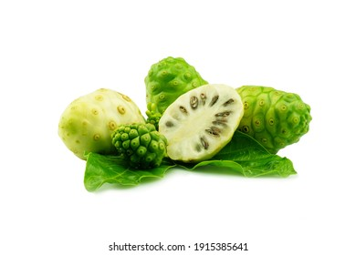 noni fruist in high definition on white background