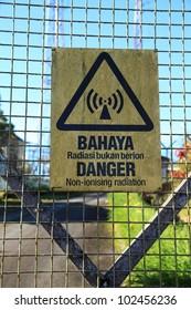 Non-ionising radiation danger sign