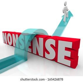Nonsense Word Arrow Avoid Crazy Illogical Idea