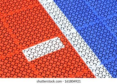 Non-slip rubber pads, Outdoor futsal field