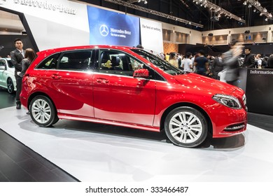 NONTABURI, THAILAND - 2 DEC :Side of Mercedes Benz-B 200 on display, showed in 31th Thailand International Motor Expo on 2 December 2014