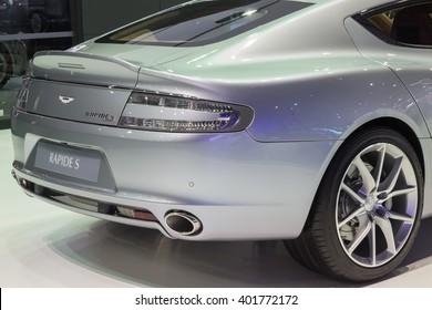 NONTABURI, THAILAND - 23 MAR : Aston Martin Rapide S showed in Thailand the 37th Bangkok International Motor Show on 23 March 2016