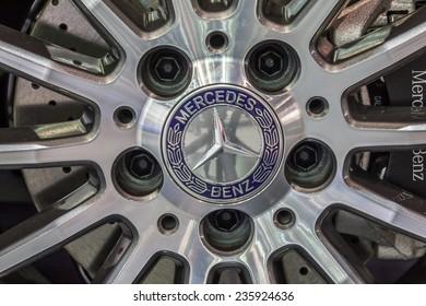NONTABURI, THAILAND - 4 DEC : The Mercedes Benz's mag wheel showed in 31th Thailand International Motor Expo on 4 December 2014