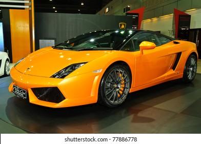 NONTABURI,THAILAND MAY 21: Lamborghini Gallardo LP560 2 On Display At The