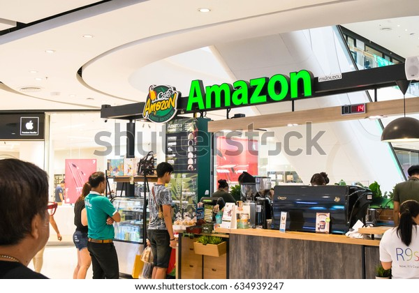 Nonthaburi Bang Yai 06 There are 2017 Amazon coffee shop. Famous coffee business Long in Thailand