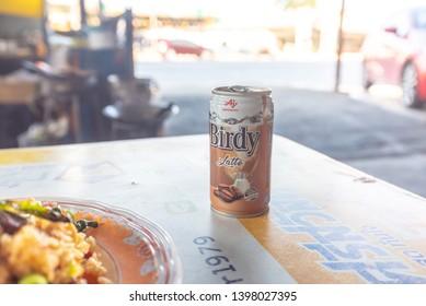 Nonthaburi - Bang Yai, 15 May 2019 Birdy coffee is a popular coffee drink in Thailand.