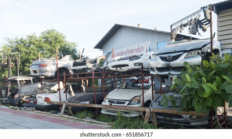 Nonthaburi Bangbuathong March 2, 2017 Old car spare parts Business in Thailand