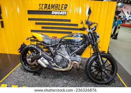 Nonthaburi Desember 4 Ducati Scrambler Motorcycle Stock Photo Edit