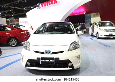 NONTHABURI - March 25: Toyota Prius car on display at The 35th Bangkok International Motor Show on March 25, 2014 in Nonthaburi, Thailand.