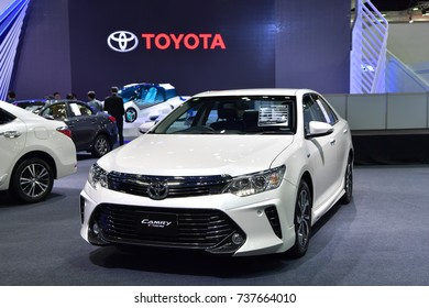 NONTHABURI - MARCH 28: Toyota Camry Extremo car on display at The 38th Bangkok International Thailand Motor Show 2017 on March 28, 2017 Nonthaburi, Thailand.