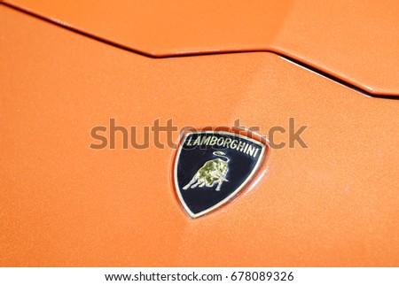 Nonthaburi March 292017 Close Lamborghini Logo Stock Photo Edit Now