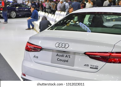 NONTHABURI - NOVEMBER 28: Audi A5 Coupe car on display at The 35th Thailand International Motor Expo on November 28, 2018 in Nonthaburi, Thailand.