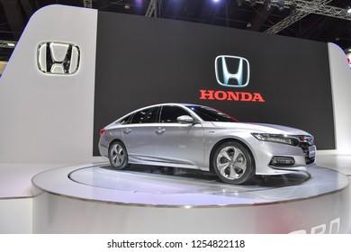 NONTHABURI - NOVEMBER 28: Honda Accord Hybrid car on display at The 35th Thailand International Motor Expo on November 28, 2018 in Nonthaburi, Thailand.