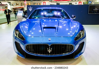 NONTHABURI - NOVEMBER 28:  Maserati GranTurismo MC Stradale car on display at Thailand International Motor Expo 2014 on November 28, 2014 in Nonthaburi, Thailand.