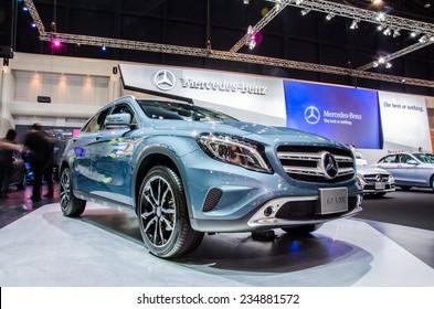NONTHABURI - NOVEMBER 28:  mercedes-Benz GLA 200 car on display at Thailand International Motor Expo 2014 on November 28, 2014 in Nonthaburi, Thailand.